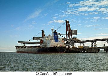 węgiel, statek, Załadowczy