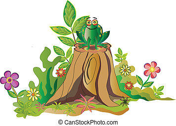Frog and tree - Cute Frog