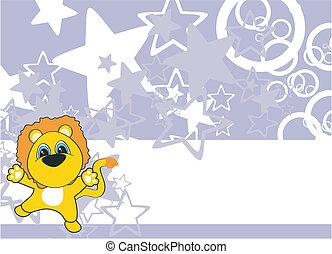 lion cartoon background