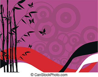 bamboo background 9 - bamboo background in vector format