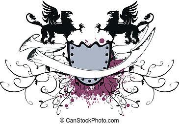 heraldic gryphon coat of arms10 - heraldic gryphon coat of...
