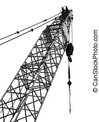 Large Scale Crane - The top end of a large crane with steel...