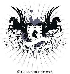 heraldic horse coat of arms 5 - heraldic horse coat of arms...