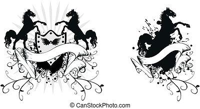 heraldic horse coat of arms 2 - heraldic horse coat of arms...