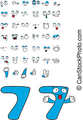 seven number cartoon