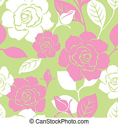 Seamless Garden Rose pattern - Illustration of a seamless...