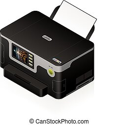 InkJet Printer - 3D Isometric Medium Home Color Photo InkJet...