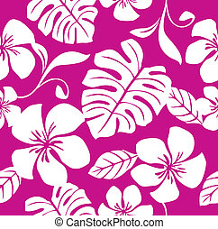Tropical Pink Bikini Pattern - Illustration of a seamless...