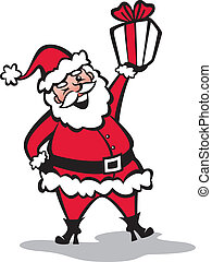 My Christmas Gift for You - Illustration of Santa Claus...
