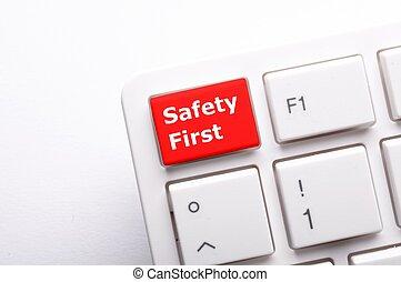 säkerhet, första