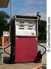 Old dilapidated gas pump - Old dilapidated gas or petrol...
