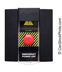 Emergency power off or panic button. This button is used in...