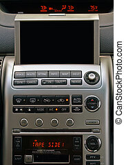 GPS - Car navigation - A close-up view of a GPS vehicle...