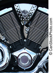 Close-up of a motorcycle engine - A close-up of a motorcycle...