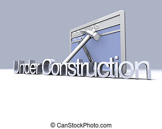 Under Construction - 3D Illustration Website is under...