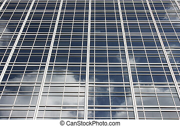 Glass facade - Skyscrapers glass facade in Buenos Aires,...