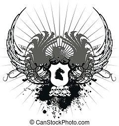 heraldic coat of arms10 - heraldic coat of arms in vector...