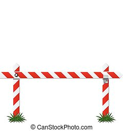 white bar with red stripe vector illustration isolated on background