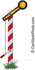 järnväg, semafor, vektor, Illustration, isolerat,...
