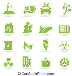 Eco and green icons - Eco and green environment icons