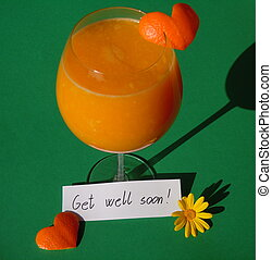 get well soon wishes - fresh squeezed orange juice, orange...