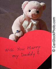 childs desire to have mommy again - teddy bear with an...