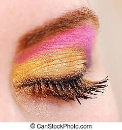 female eye with make up