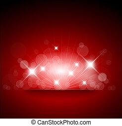 Red background with white lights and place for your text