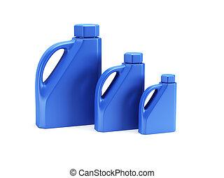 motor oil bottle isolated 3d render
