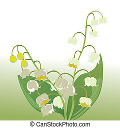 Lily of the valley - Illustration vector