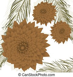 Pine cones background, isolated objects over white...
