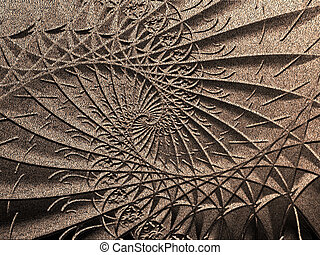 metal background - psychedelic spiral embossed such at rough...