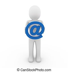 3d man email blue