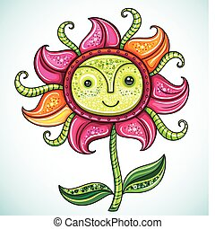 Cute friendly Spring flower - Cute friendly Eco flower,...