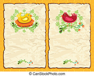 Easter antique paper backgrounds