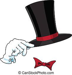 gentleman - An illustration of a gentleman logo