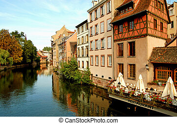 The river in the Petite France - Strasbourg - France - The...