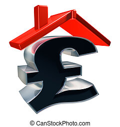 Price of a house - Isolated illustration showing the cost of...