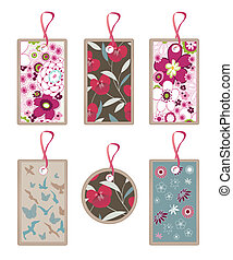 floral nature tags
