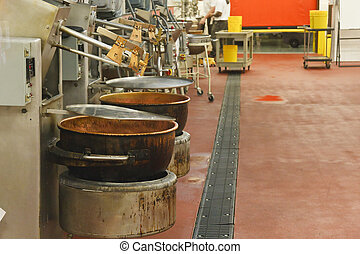 Pots in a Chocolate Factory