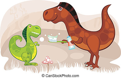 dinosaur - vector illustration of cute dinos