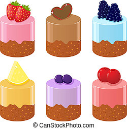 Set of six shortcakes