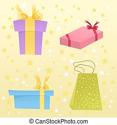 Set of cute gift boxes
