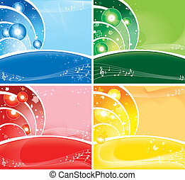 music all the year round - 4in1 seasonal backgrounds with...