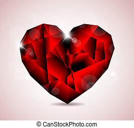 Red Diamond jewel heart