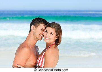 Lovers at the beach