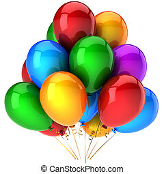 Party balloons multicolored