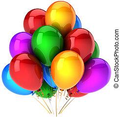 Hélio, balões, Multicolor