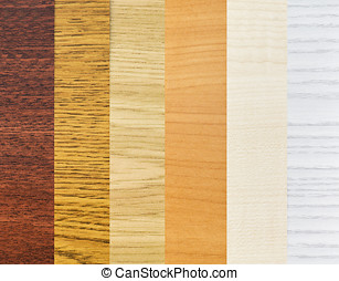 coating wood - background color of the samples of wood...