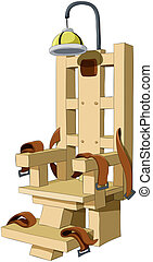 Electric chair - Illustration of the electric chair on a...